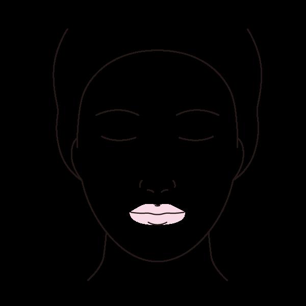 唇の形を整える